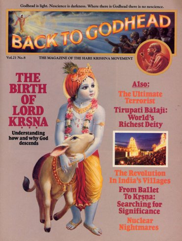 Back To Godhead Volume-21 Number-08, 1986