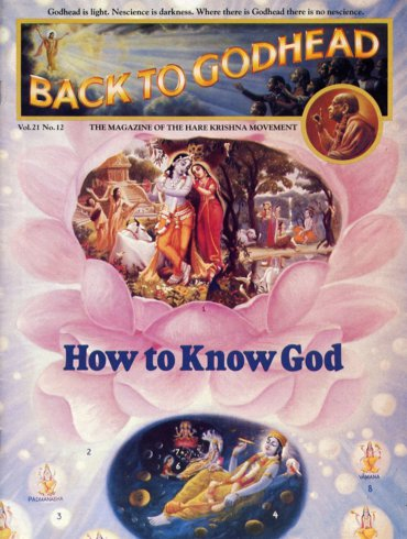 Back To Godhead Volume-21 Number-12, 1986