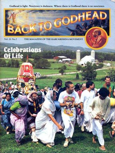 Back To Godhead Volume-22 Number-07, 1987