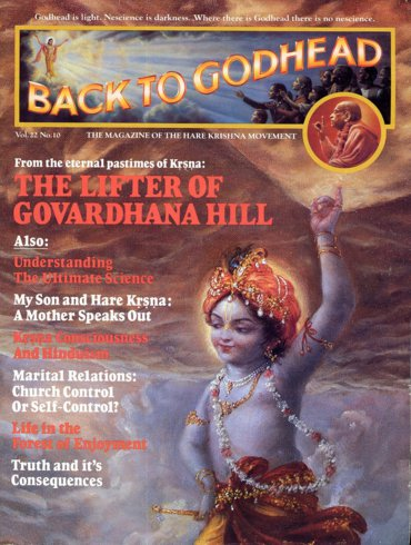Back To Godhead Volume-22 Number-10, 1987