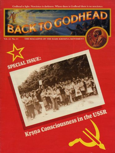 Back To Godhead Volume-22 Number-11, 1987
