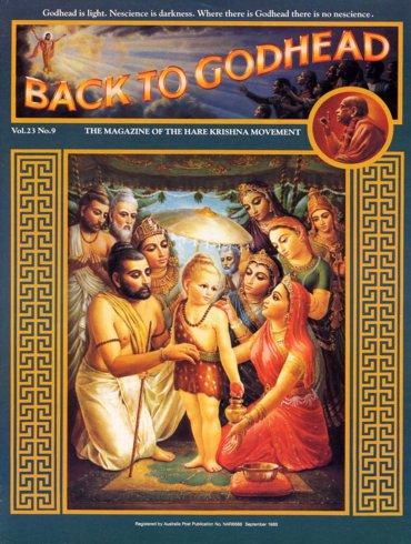 Back To Godhead Volume-23 Number-09, 1988