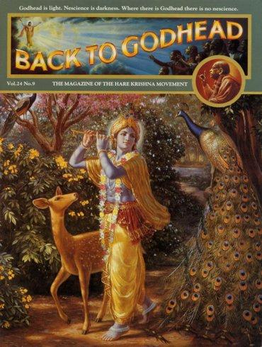 Back To Godhead Volume-24 Number-09, 1989
