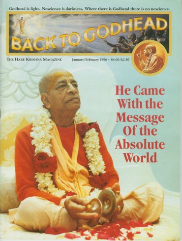 Back To Godhead Volume-30 Number-01, 1996