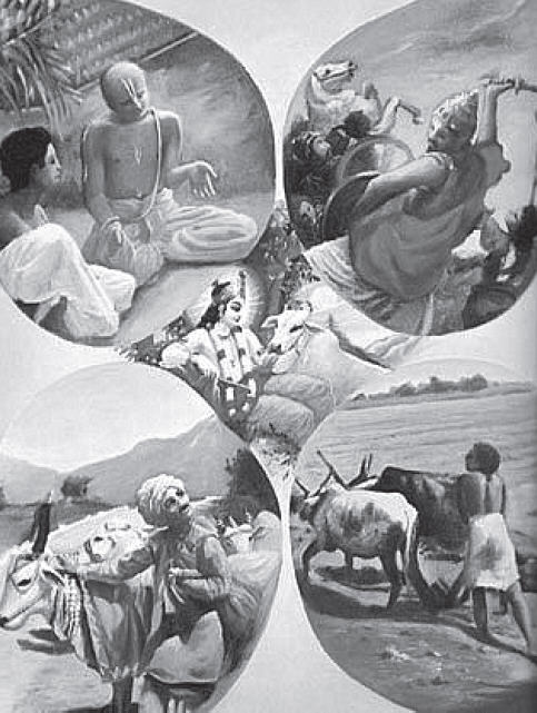 The four divisions of daivi-varnasrama