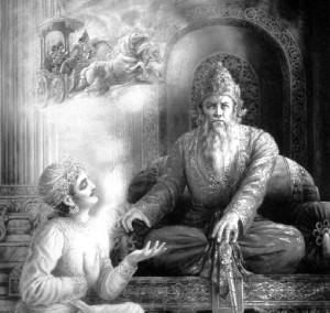 Sanjaya with Dhrtarastra