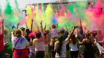 Festival of Colors in New Vrindavan