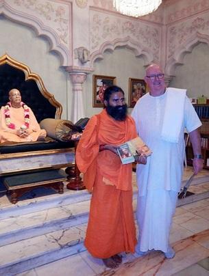 Famous Indian Yoga Teacher Swami Baba Ramdev Visits ISKCON Melbourne