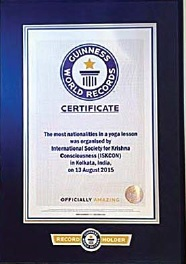 ISKCON Enters Guinness Book of World Records