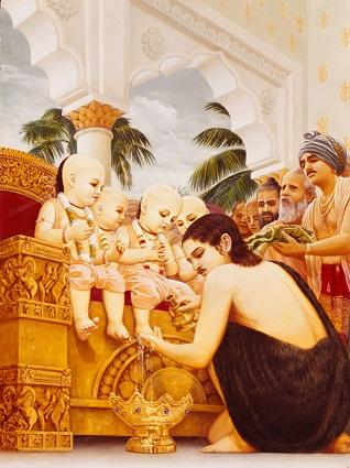 Prithu and four Kumaras